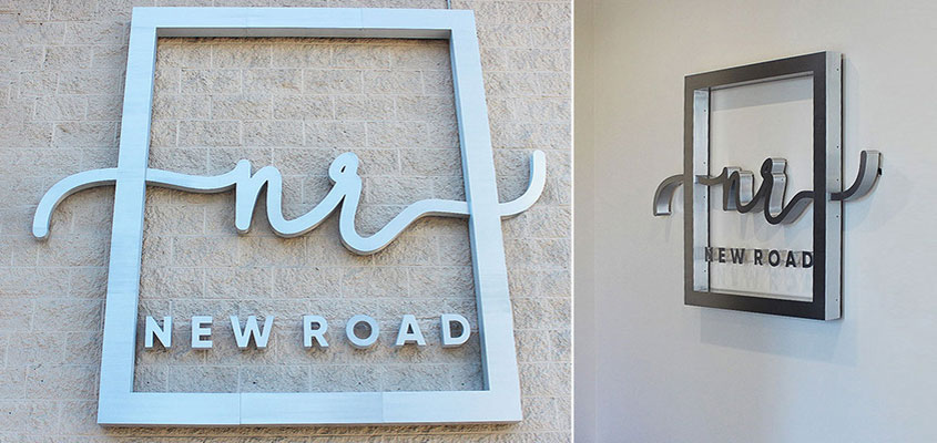business sign showcased in indoor and outdoor spaces for choosing location