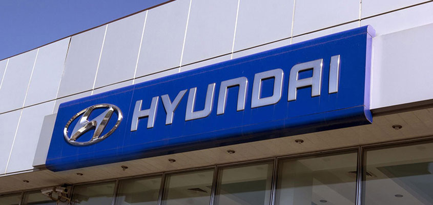 Hyundai business sign example for making outdoor business signs with aluminum