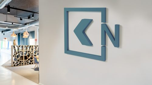 interior business logo with direction