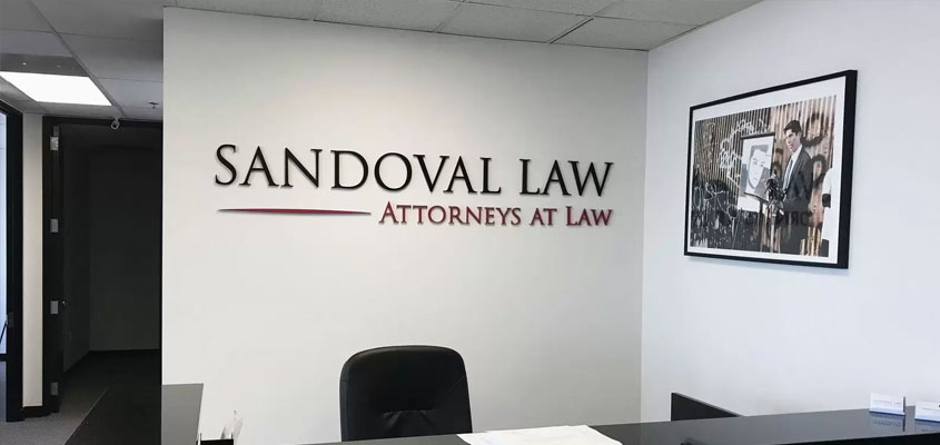 image showing how a simple business sign is designed for a law firm