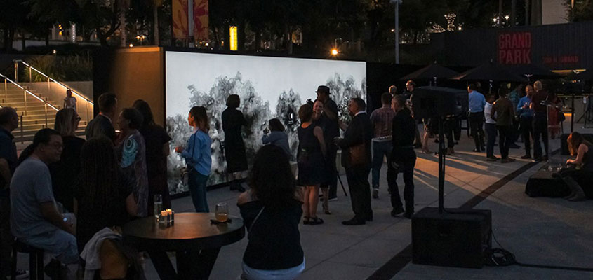 Outdoor public event successfully planned at the Annenberg's event venue