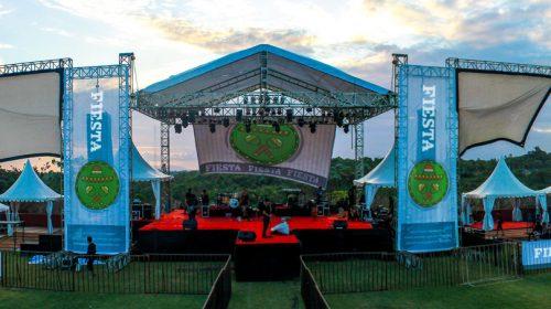 Fiesta outdoor music festival custom structure example