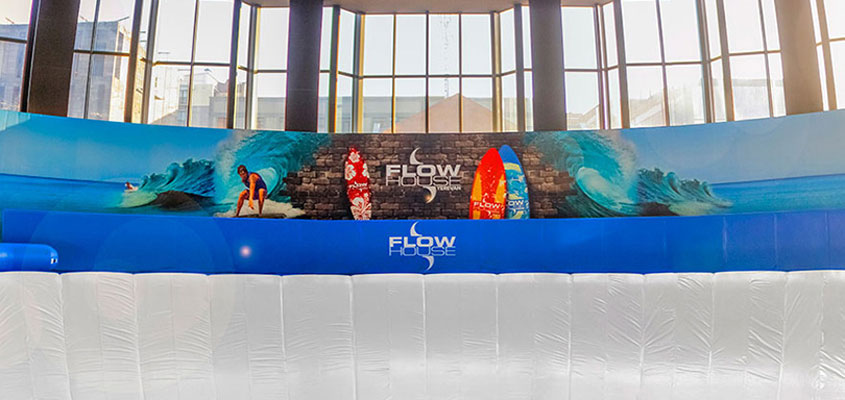 event planning tips shown on Flow House interior branding example