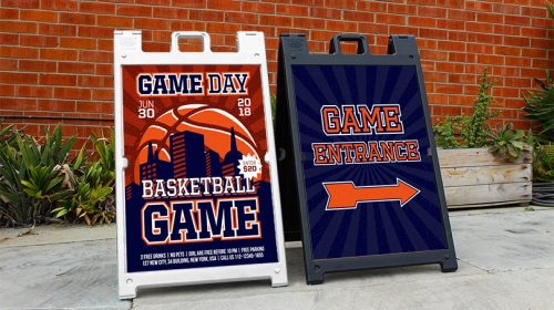Game Entrance sports event branded element example