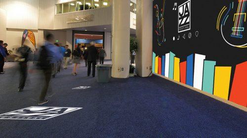 Jazz Festival floor graphics example