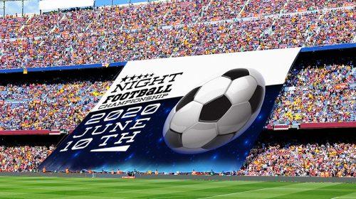 Night Football Championship digital banner example