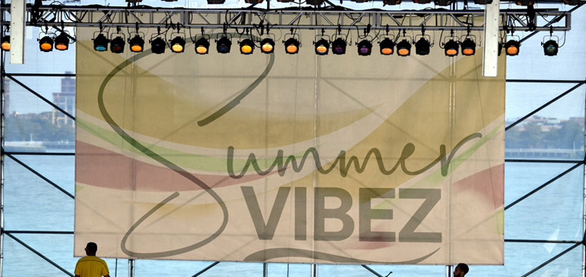 Summer Vibez concert banner for planning a music event