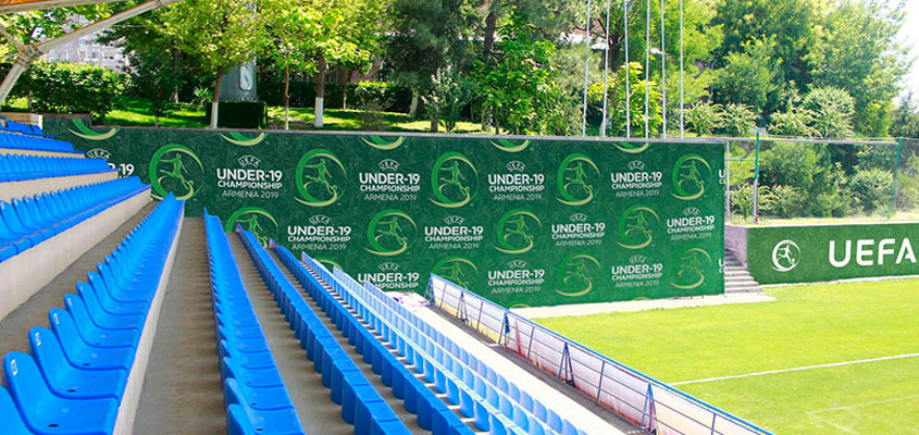 UEFA branded promotional graphic for organizing a sports event