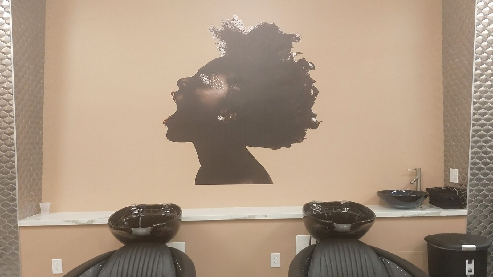 beauty salon wall decal
