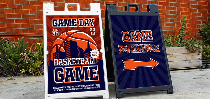 sports event branded boards for effective event planning