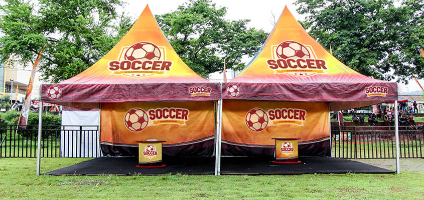 sports event printed tents for organizing a sports event