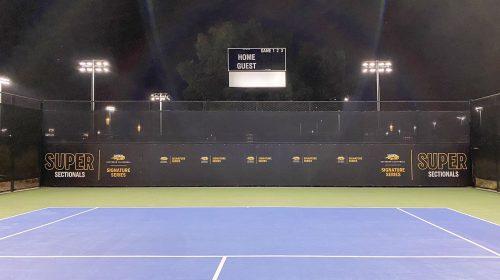 sports stadium banner