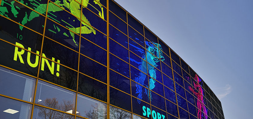 sports themed branded windows for planning an event