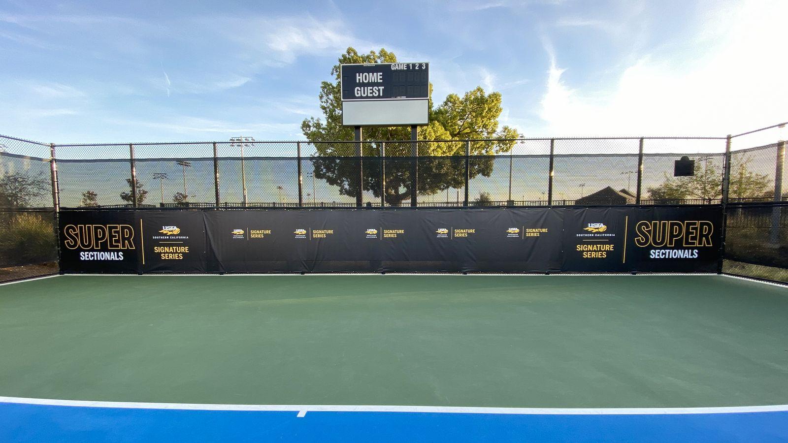 tennis court banner
