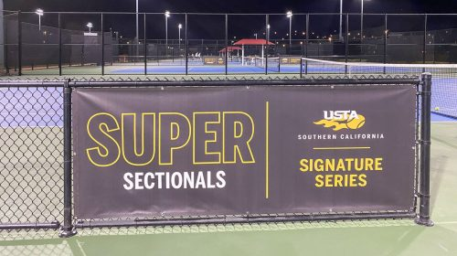 tennis court vinyl banner