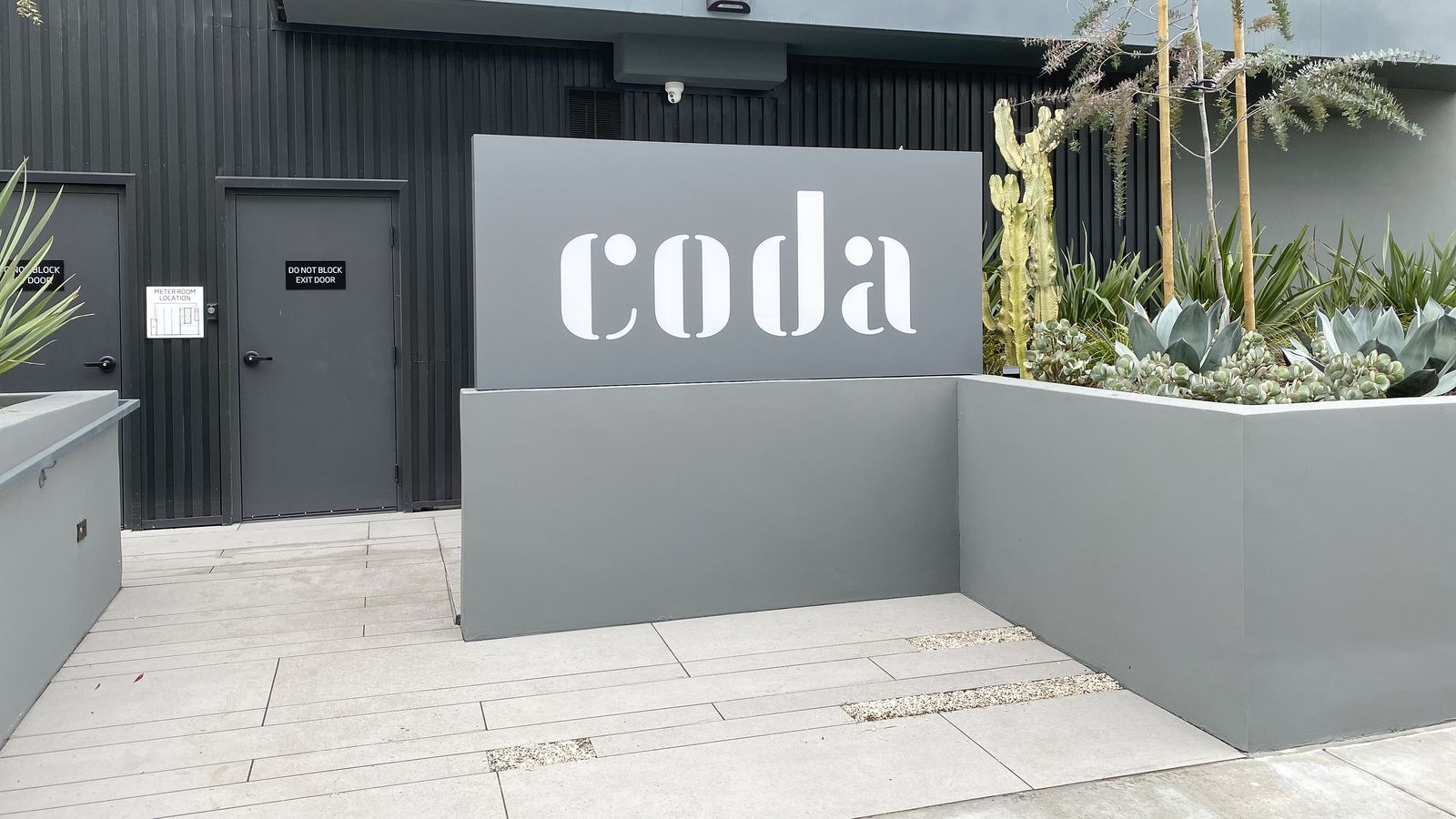 Coda illuminated sign