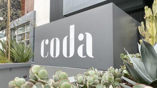 Coda light up sign