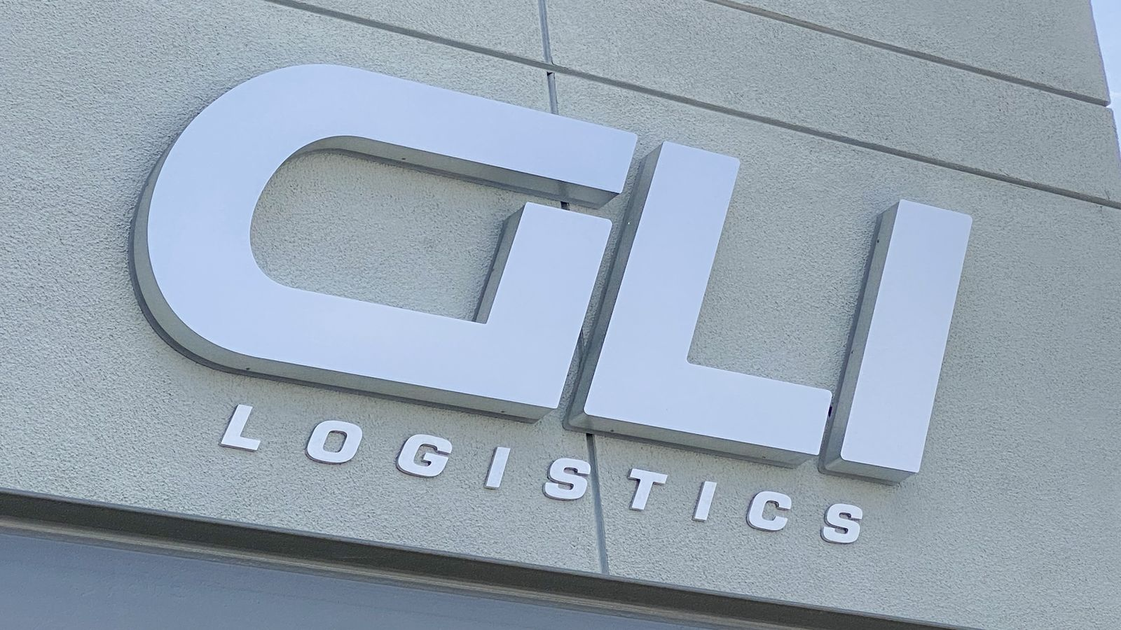 GLI Logistics light up sign