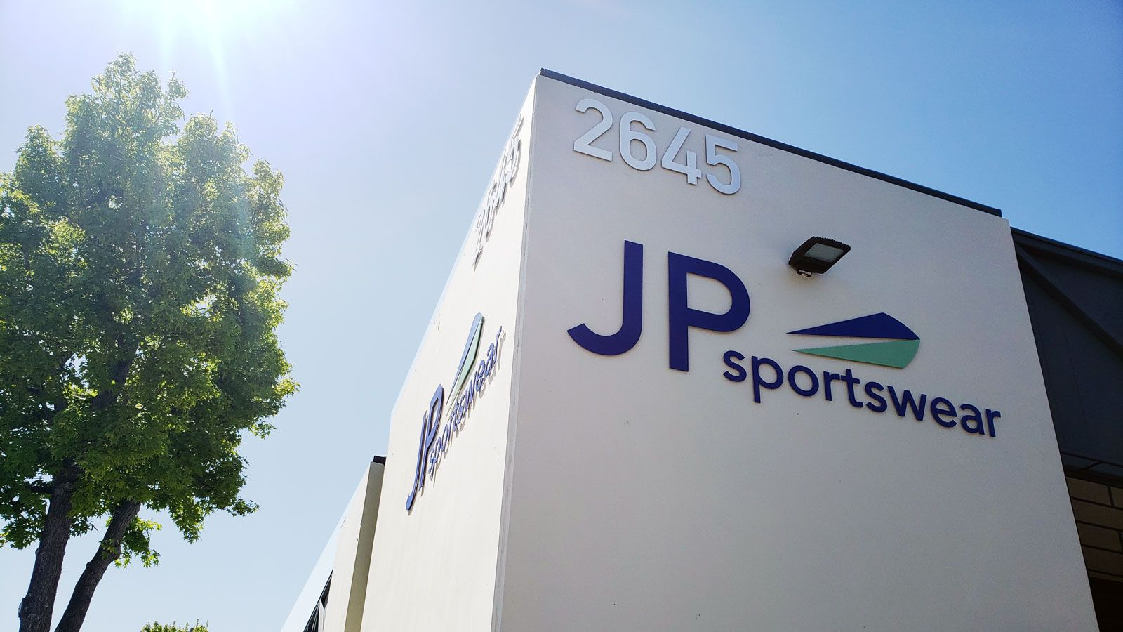 Image showing brand design project for JP Sportswear Aluminum letters
