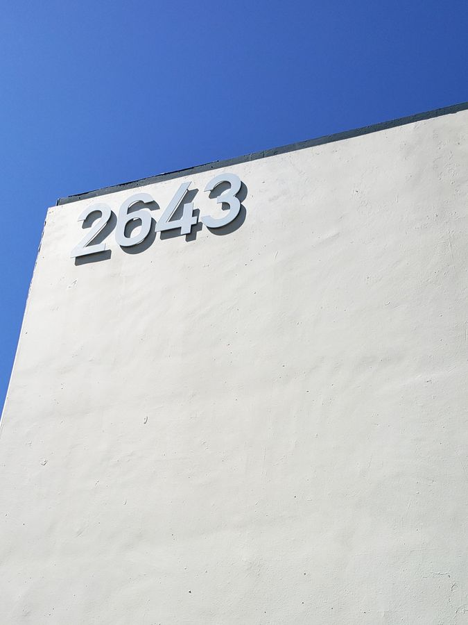 3D address number signage made of aluminum