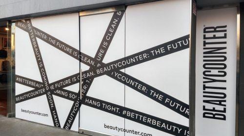 Storefront window vinyl decals