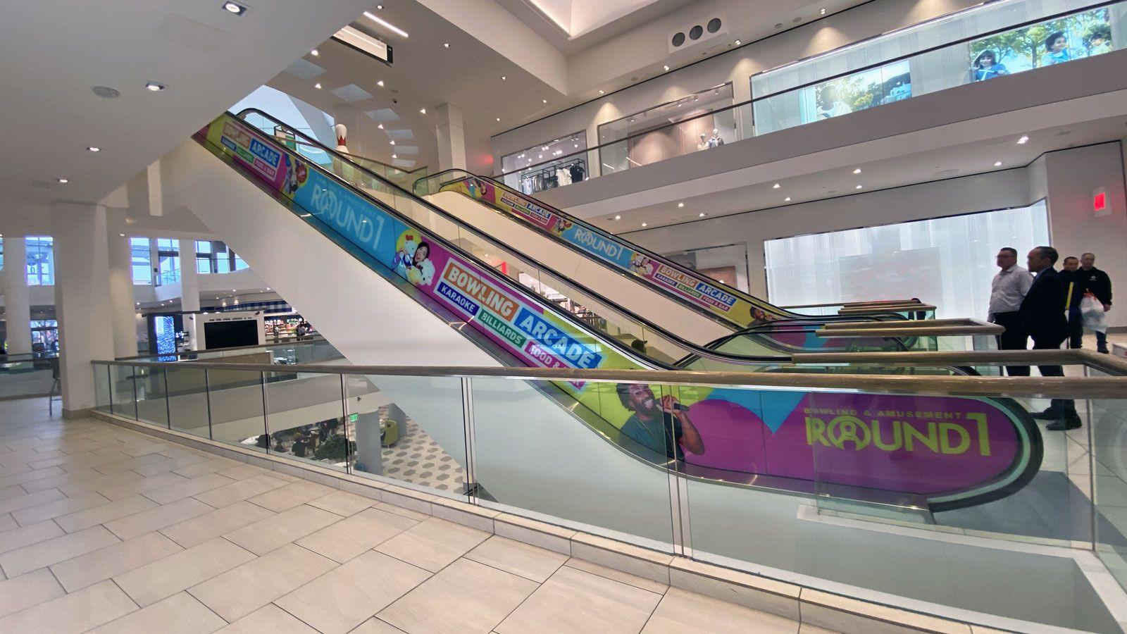 custom escalator decals