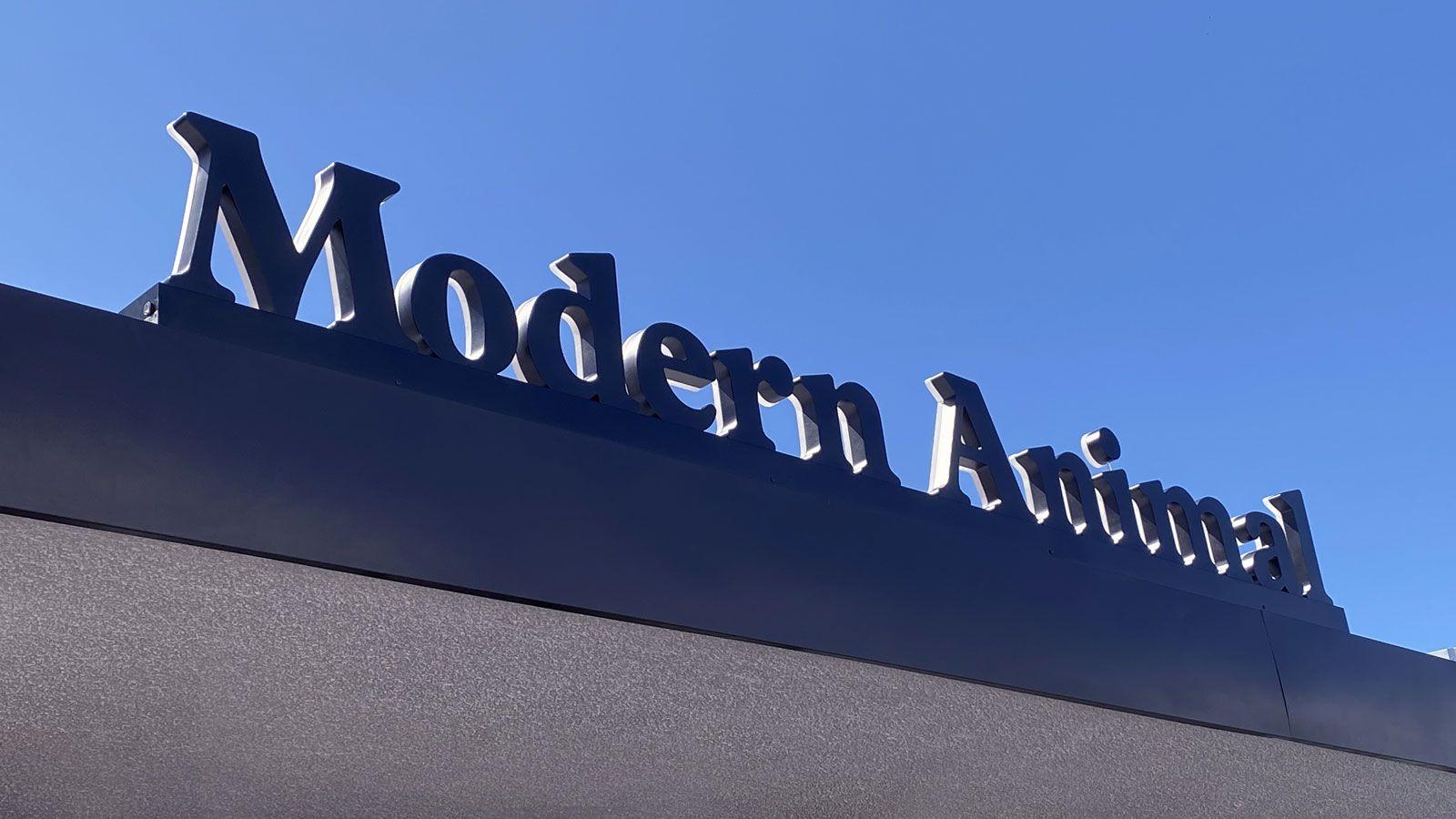 modern animal business sign