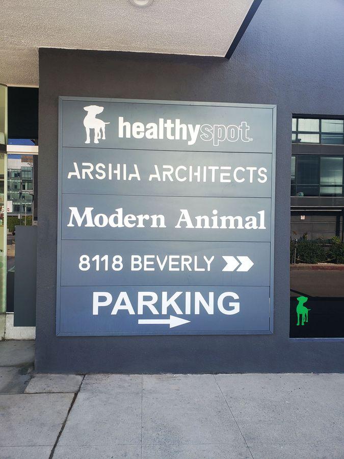 modern animal styrene sign
