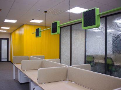 Ameriabank open space interior design idea