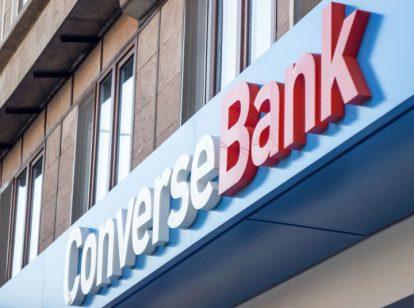 ConverseBank exterior design idea with big letters