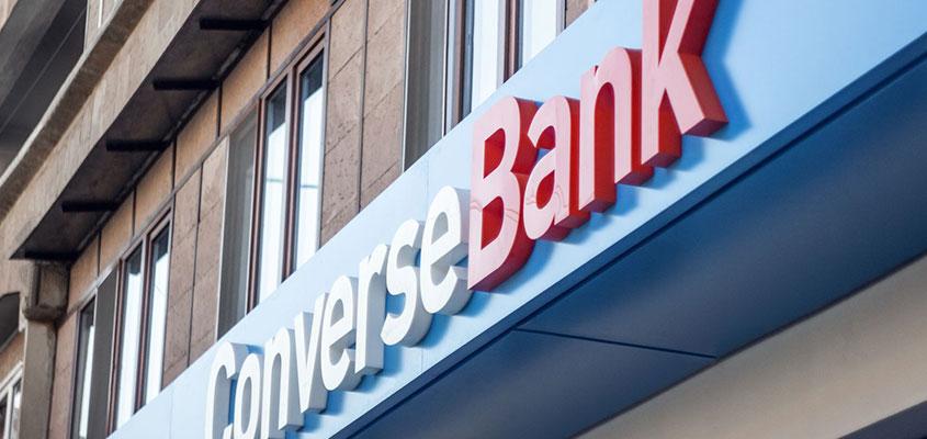 Outdoor bank promotion idea from Conversebank
