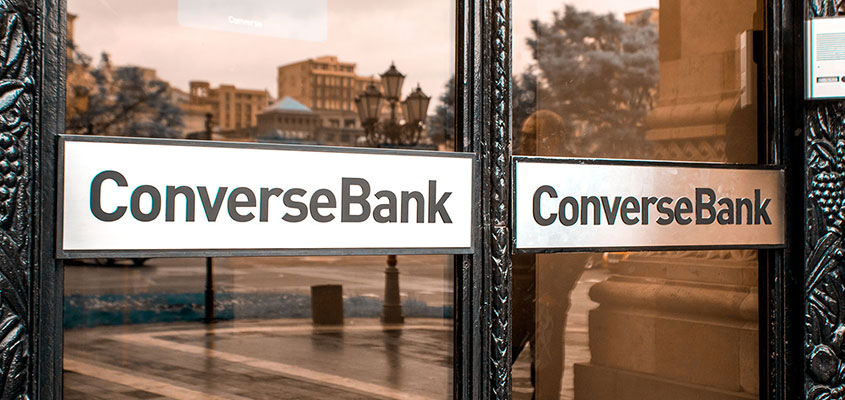 Conversebank exterior look with branded windows