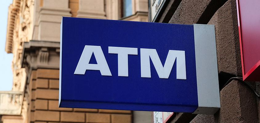 Bank exterior directional board design concept