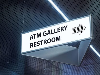 bank interior directional sign design idea