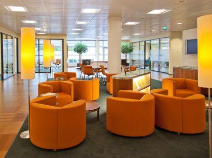 bank interior space design idea