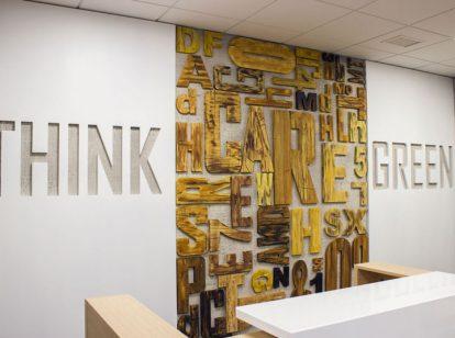 bank interior wooden design idea