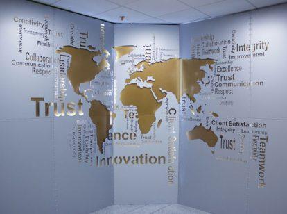 themed bank interior design idea