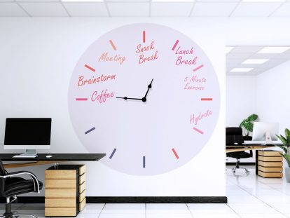 Agenda Clock office wall design idea
