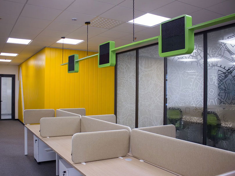 Ameriabank office space design desk solutions