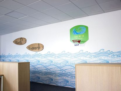 Ameriabank office wall design idea
