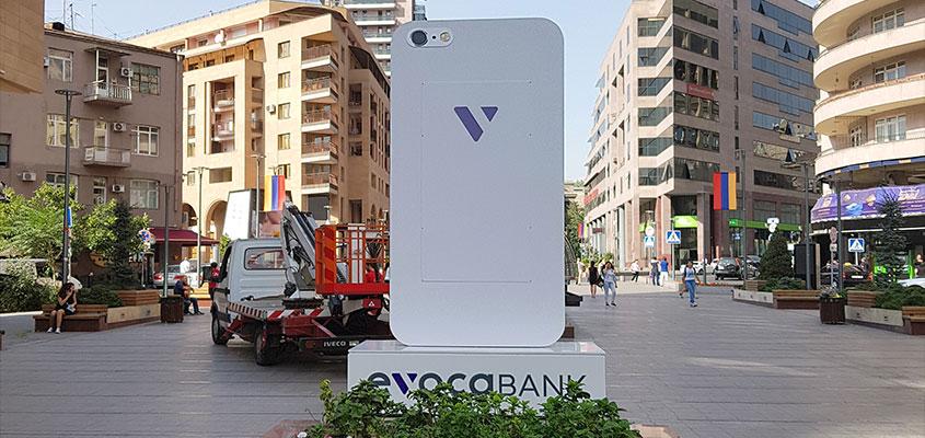 Evocabank cool outdoor business pylon sign idea