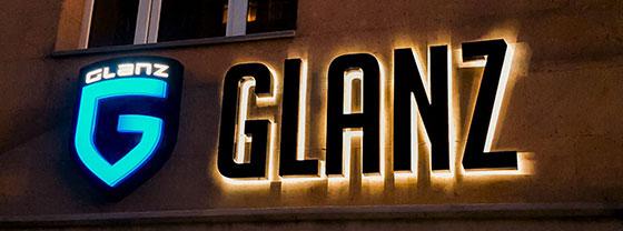 Glanz commercial building signage idea