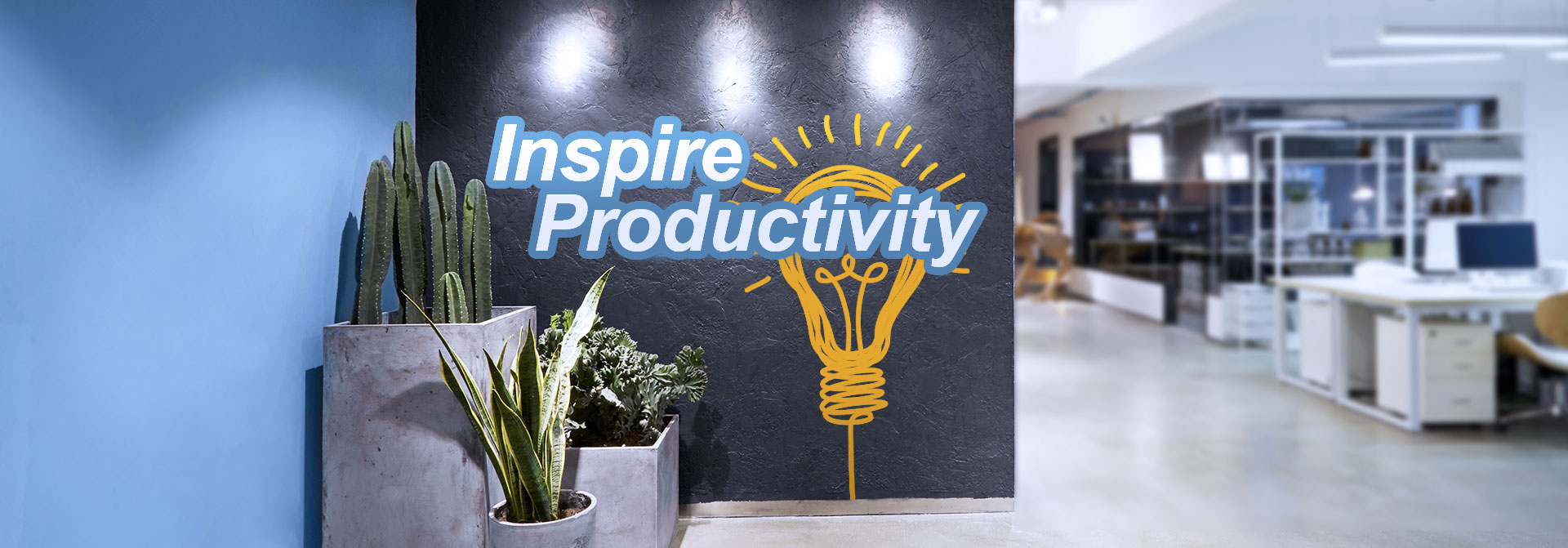 Inspire Productivity wall decal for office design