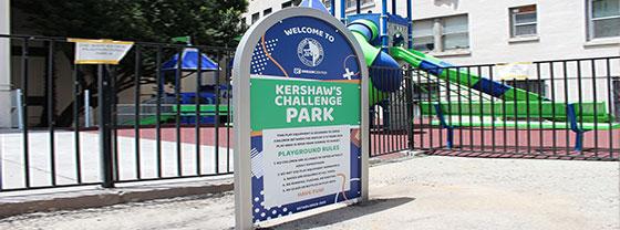 Kershaw's Challenge Park cool business sign idea