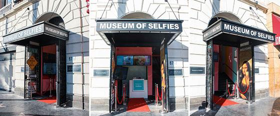 Museum Of Selfies outdoor business branding solution
