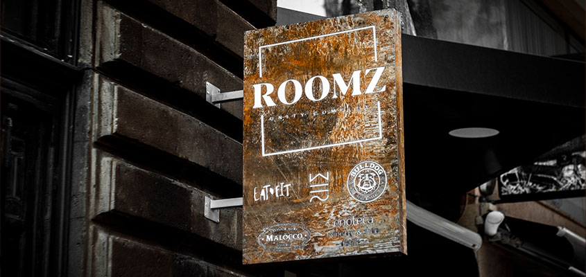 Roomz commercial building signage idea for inspiration