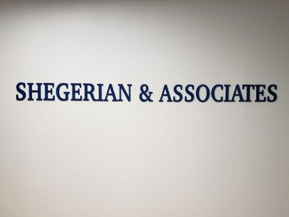 Shegerian & Associates office wall design