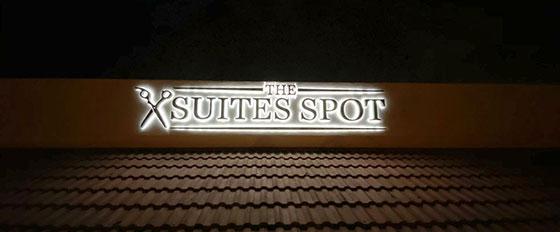 The Suites Shop illuminated design solution