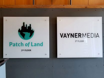Vayner Media office wall designs