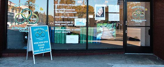 We're Now Open outdoor business display idea